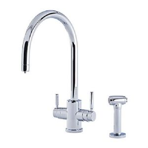 1712 Perrin & Rowe Phoenix 3-in-1 Instant Hot Water Kitchen Mixer Tap With C-Spout and Rinse